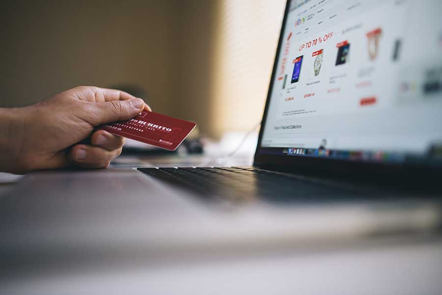 picture of someone buying online