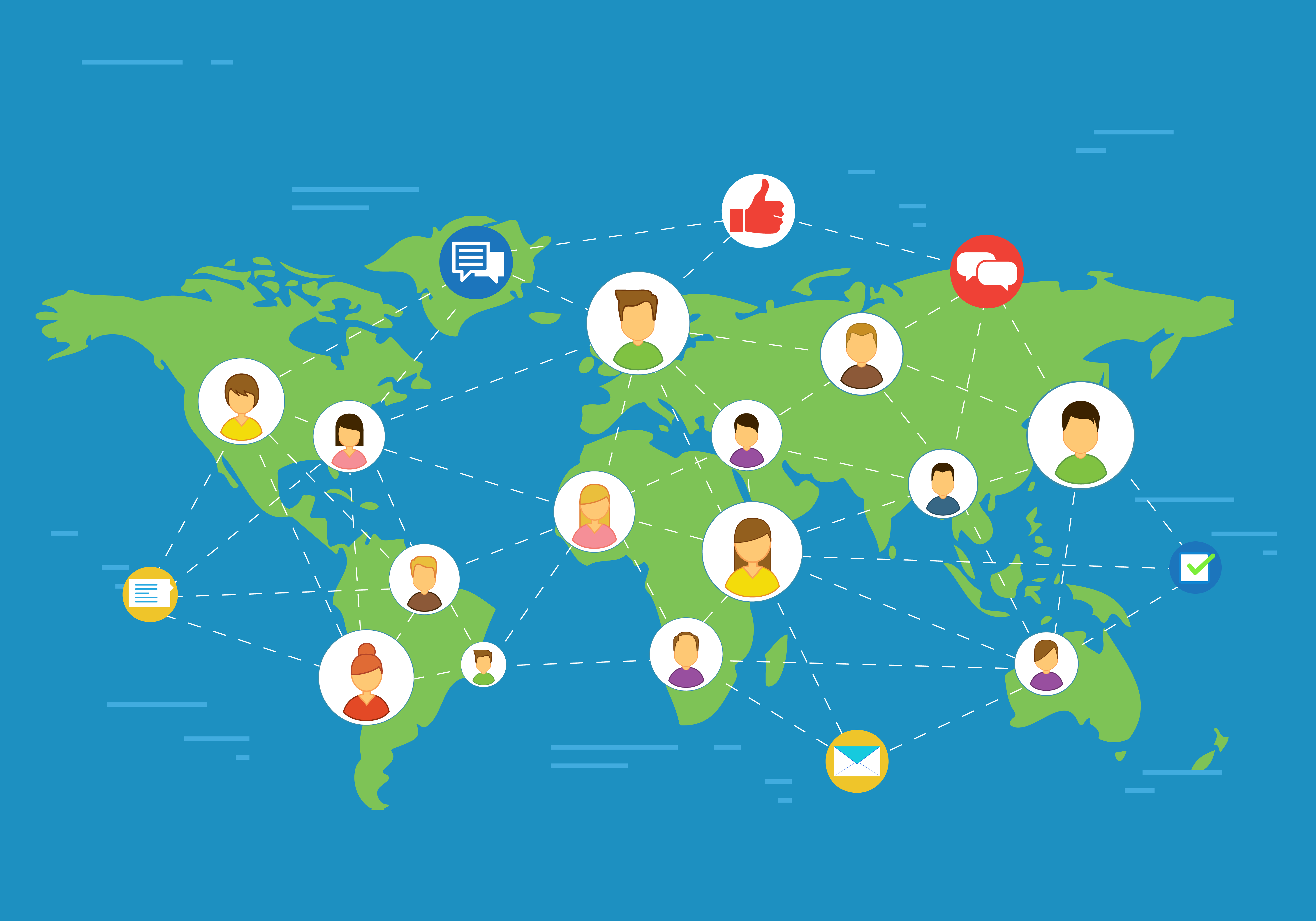 People connected through digital marketing