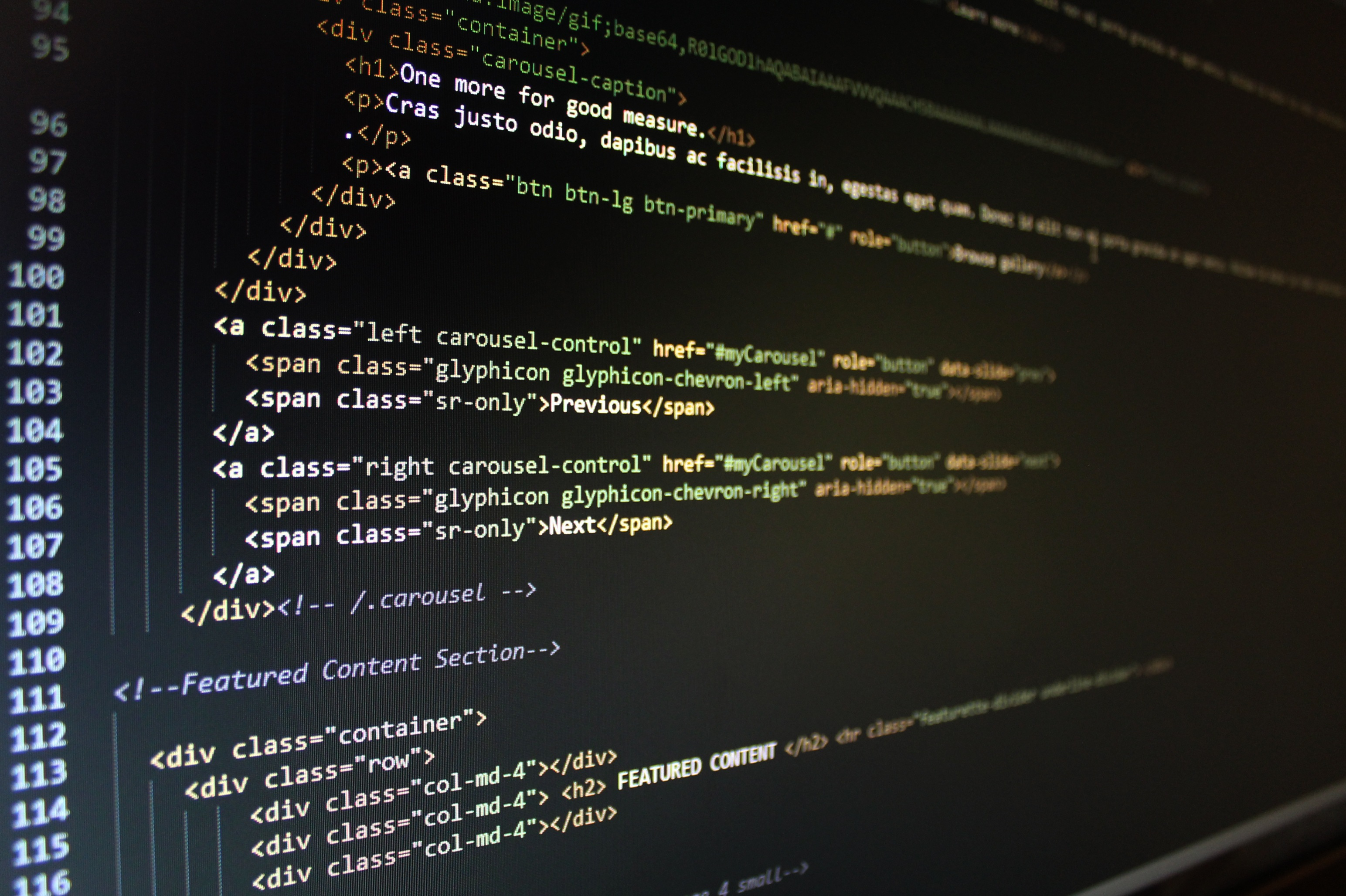 website coding page