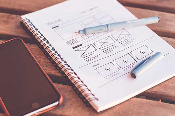 Image of a website wireframe
