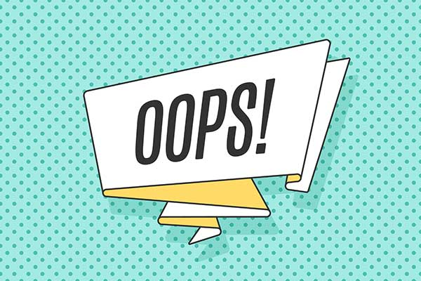 vector image of the word oops