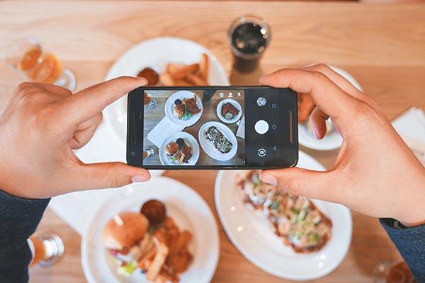 iPhone photos of food