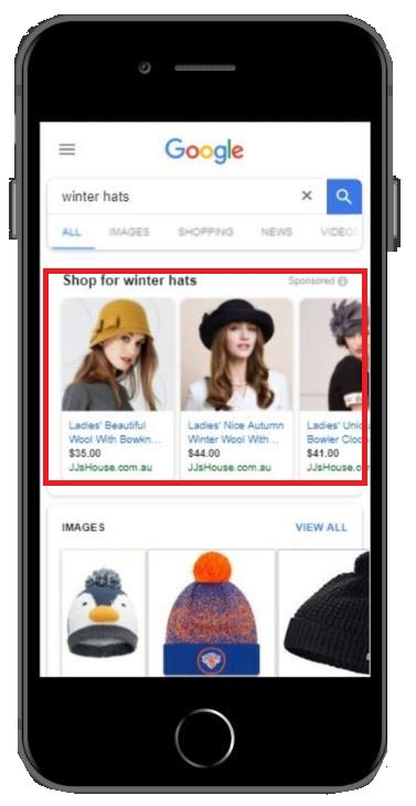 Google Shopping Ads From Mobile Device