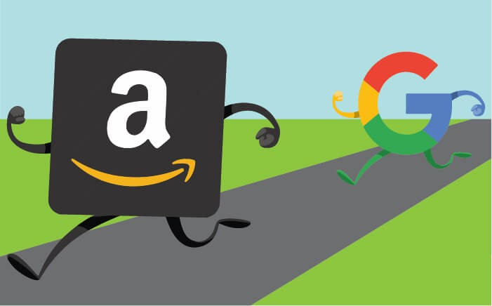 amazon icon running from google icon