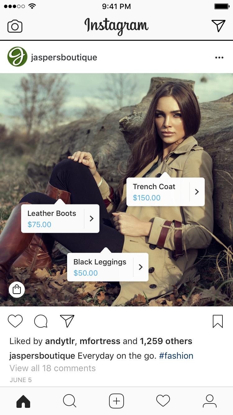 shopping post on instagram