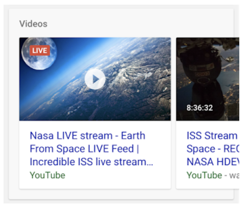 Google new structured data for livestreams