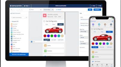 Salesforce on desktop and mobile