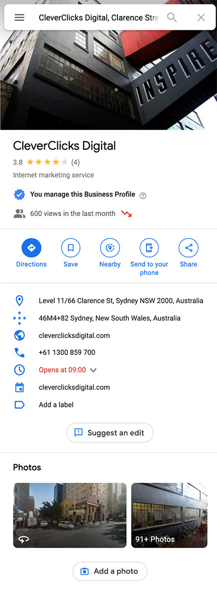 cleverclicks-google-my-business-profile